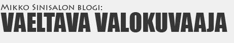 Mikko Sinisalo : Vaeltava valokuvaaja