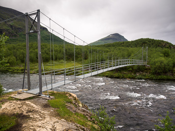 Ruotsalaisella sillalla. Abiskojaure, Ruotsi