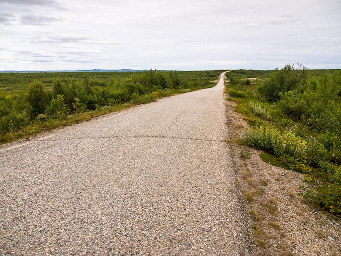 Kymmenisen kilometriä tätä tietä pitkin Kautokeinoon, kun teki mieli päästä kauppaan ja Kalottireitti olisi kiertänyt enemmän. Cunovuohppi, Norja
