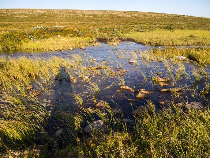 Tällä etapilla oli aika kuivaa, tämä taisi olla vaativin veden ylitys. Sieiddejavrrit, Norja