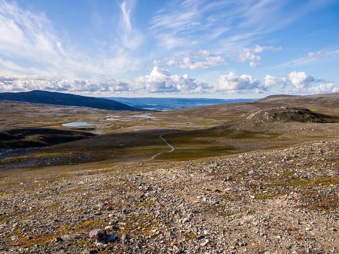 Nousua mereltä, puolitoista päivää hyödynsin mönkijäuria ennen kuin lähdin omille poluille. Rassaceavet, Norja