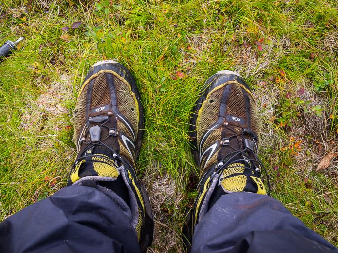 Kengät keräsivät väriä maatuvasta materiasta. Riggasvarri, Norja