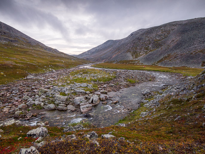 Björnskardet, teltta oikealla. Björnskardet, Norja